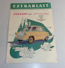 Prospekt / Broschüre Zündapp Janus 250