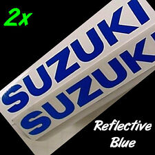 Suzuki REFLECTIVE BLUE 8.25in 21cm decals stickers samurai 750 1000 gsx r 300 s