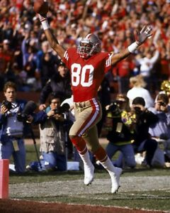 JERRY RICE 8X10 PHOTO SAN FRANCISCO FORTY NINERS 49ers PICTURE TD RECEPTION NFL