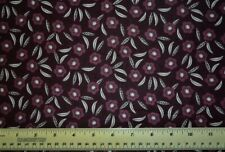 Camelot Captivate Tonal Dark Plum Floral Flowers By the 1/2 yard cotton fabric