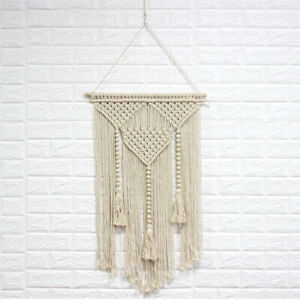 Bohemian Macrame Wall Hanging Hand Woven Tapestry Dream Catcher Home Room Decor
