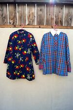 Vintage Girls Dresses Lot of 2 By Youngland Handmade Floral Plaid Tartan