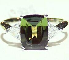 Vintage 3.67CT Platinum Natural Brazilian Alexandrite Diamond Engagement Ring