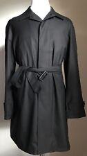 New $2195 Ermenegildo Zegna Coat Trench Coat Dark Gray 42R US ( 52R Eur ) Italy