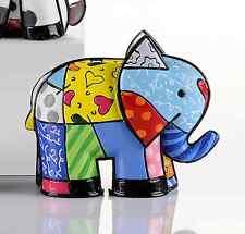 "ROMERO BRITTO MINI FIGURINE: "" INDIA "" ELEPHANT  * NEW *"