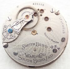 17J Hunter Pocket Watch Movement Parts Antique 18S South Bend Grade 342