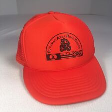 e41a3ea685722 Potomac Area Road Riders Trucker Hat Orange Motorcycle Club Hat Snapback  Vintage