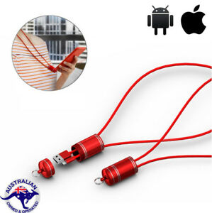 Lanyard USB Charging Data Sync Cable Charger for iPhone Android Samsung HuaWei