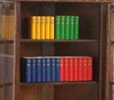 Dolls House Miniature 1/12th Scale Set of 4 Bright Coloured Blocks of Books OA33