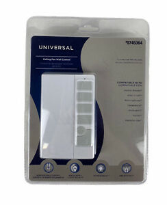Harbor Breeze 0745364 Universal Ceiling Fan Wall Control Remote White