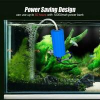 Practical USB Aquarium Fish Tank Oxygen Air Pump Aquatic Terrarium New K8R3