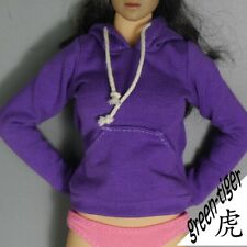 1:6 Scale ace Female figure parts - Purple hoody hoodie Street style Free Ship
