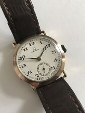 Rare Vintage Gents Omega 9k Solid Gold Manual Wind Cal. 23.7 Circa 1924