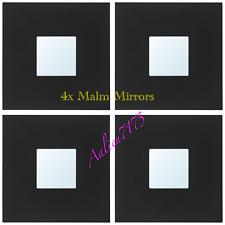 4x IKEA MALMA Black Modern Art Wall Mirror Squares 002.328.30 / 10 X 10