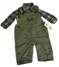 Oshkosh Boy's Dinosaur 2-Piece Overalls Set Outfit size 3...