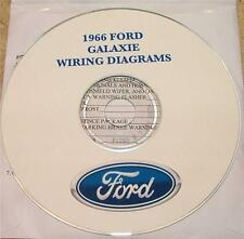 1966 FORD GALAXIE WIRING DIAGRAM MANUAL ON CD