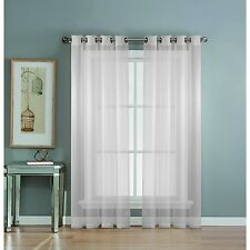 Window Elements Diamond Sheer Voile Extra Wide Grommet Curtain Panel, 56 x 90-In