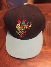 Vintage Everett Aquasox MILB New Era Pro Model Hat Cap 100% Wool Size 7 1/4 USA