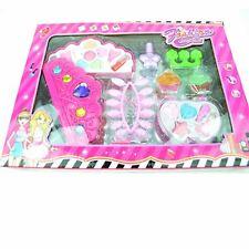 Kids Girls Make Up Vanity Case Pink Set Lip Gloss Birthday Party Dress Up Gifts