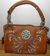 MONTANA  WEST  LIGHT BROWN  PURSE WITH CONCEAL AND CARRY POCKET