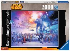 16701 Ravensburger Star Wars Episode I - VI Saga 2000pc Adult Jigsaw Puzzle