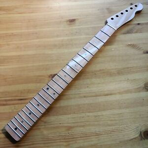"""New One Piece Gloss Flamed Maple Tele Telecaster Neck Skunk Stripe 25.5"""" Scale"""