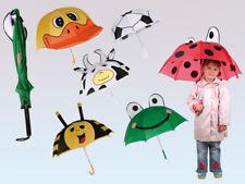Kinder Regenschirm ca. 46 cm Biene Ente Frosch Kuh Fußball Marienkäfer Schirm