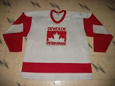 VINTAGE CANADIAN MINOR REC BEER LEAGUE GAME USED HOCKEY JERSEY PETRO-CANADA  SZ50 f5010e228