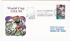 WORLD CUP SOCCER #2834 US FIRST DAY COVER 1994 UNKNOWN CACHET FDC FOXBORO, MA