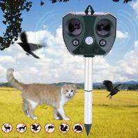 Solaire extérieur ultrasonique ravageur animal répulsif jardin chat chien