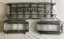 Toyota Land Cruiser FJ62 FJ 62 fj62 Front Chrome Grille Grill and  Bezels 87-90