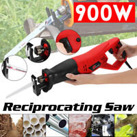 900W 220V Electric Reciprocating Sabre Saw 2 Blades Wood Metal Plastic Pruning