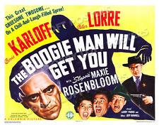 THE BOOGIE MAN WILL GET YOU LOBBY TITLE CARD POSTER 1942 KARLOFF LORRE