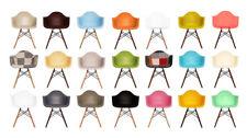 Scandi style Retro Tub Chair Armchair WALNUT / NATURAL WOOD Base!