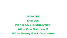 N10-006 CompTIA Network PLUS Certifictaion Updated  Test PDF & Sim