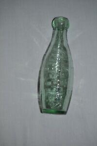 Schweppes glass soda skittle bottle ROYAL COAT OF ARMS