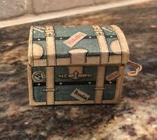 Antique German miniature travel Dome Trunk Christmas ornament candy container