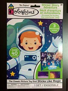 COLORFORMS  SPACE BOY ASTRONAUT STICKER STORY ADVENTURE SET CLASSIC KIDS TOY!