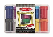 New!! Melissa & Doug Washable Deluxe Poster Paint Set 10 Colors - New!!