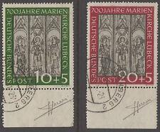 Alemania Occidental 1951 St Mary's Church, Lubeck Conjunto, Muy Fino usados, firmado por Sorani