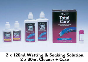 AMO Total Care Hard RGP Contact Lens Solution Cleaner Wetting Soaking blink