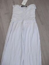new with tags ladies white sleeveless maxi dress size s/m 8??