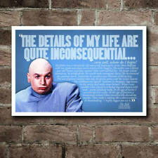 Austin Powers Dr. Evil Details Of My Life Quote Poster- Printable Wall Art