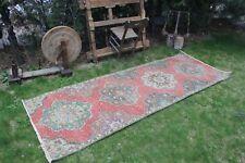 """Vintage Handmade Turkish  Oushak Runner Rug 8'11""""x3'6"""""""