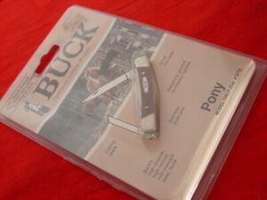 "Buck USA Made 705 2-5/8"" PONY 2 Blade Stockman Stock Knife FACTORY SEALED"