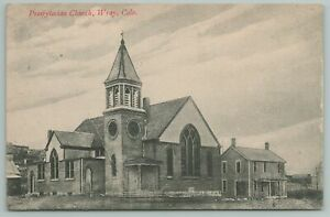 Wray Colorado~Presbyterian Church & Parsonage?~House next Door~1909 B&W Postcard