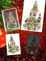 Disney Parks Fantasyland Castle Santa Mickey Light-Up Figurine Nordic Christmas