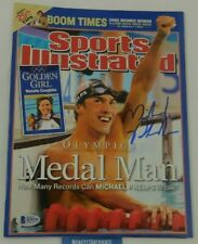 Michael Phelps Signed Sports Illustrated 2004 Sumer Olympics USA BAS No Label