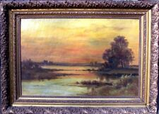 Unsigned Original Oil on Canvas of Landscape, ca. 1890