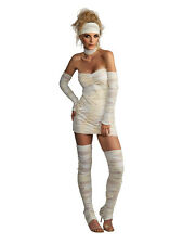 Adult Ladies Zombie Egyptian Outfit Mummy Fancy Dress Halloween Costume